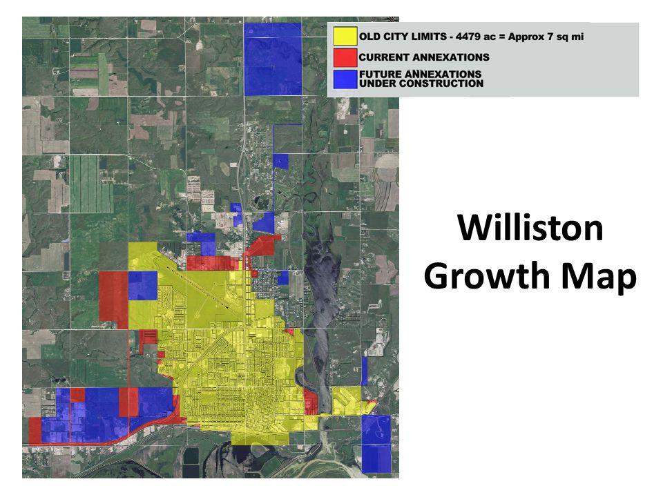 Williston Growth Map