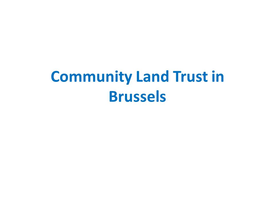 Community Land Trust in Brussels