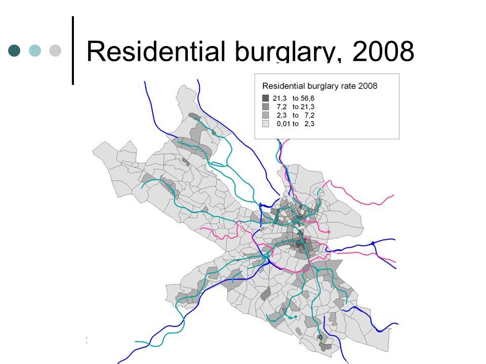 Residential burglary, 2008 26