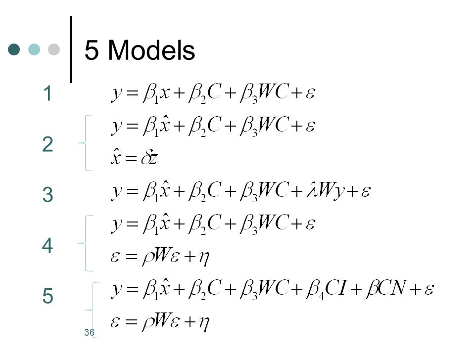 5 Models 36 1234512345