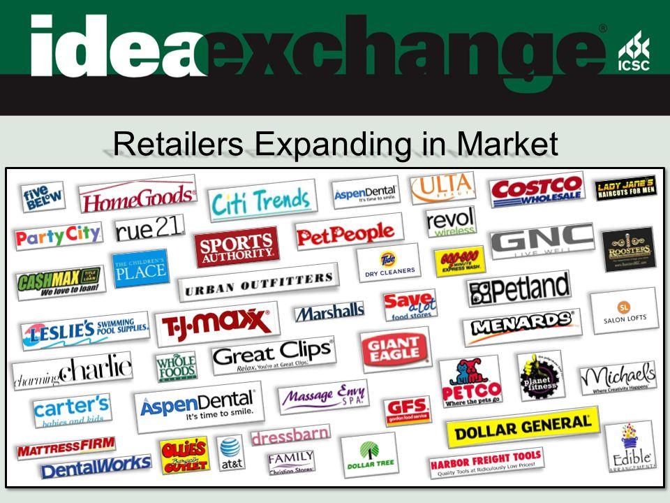 Retailers Expanding in Market