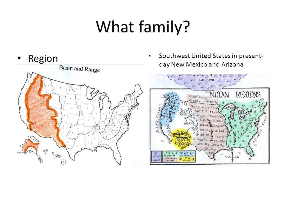 What family? Southwest United States in present- day New Mexico and Arizona Region