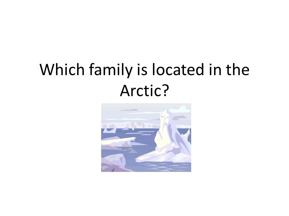 Which family is located in the Arctic?