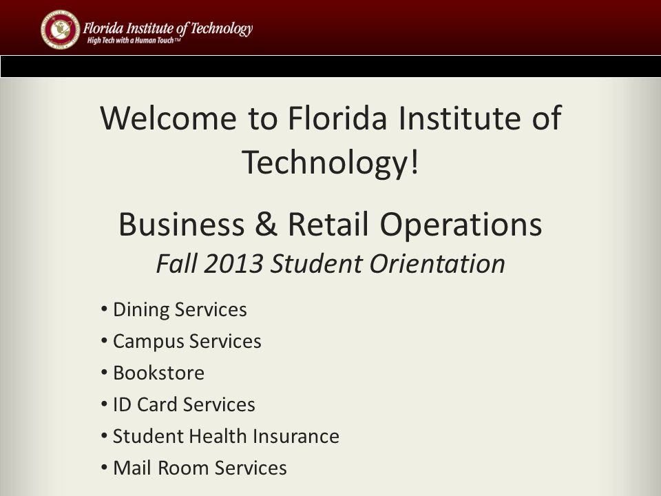 The Florida Tech Student Health Insurance Policy Florida Tech Student Health Insurance policy information is available on line at www.BollingerInsurance.com/FIT