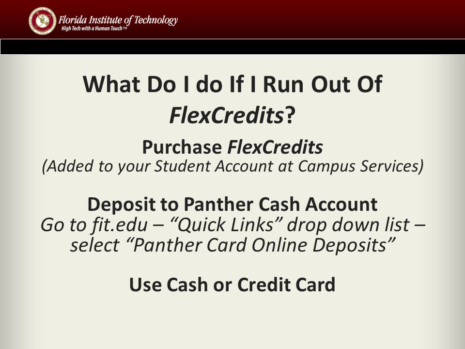 What Do I do If I Run Out Of FlexCredits.