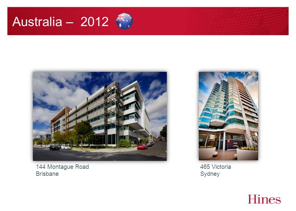 Australia – 2012 144 Montague Road Brisbane 465 Victoria Sydney