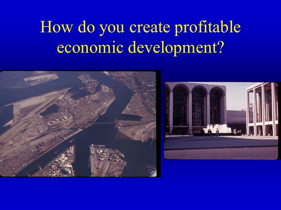 How do you create profitable economic development?