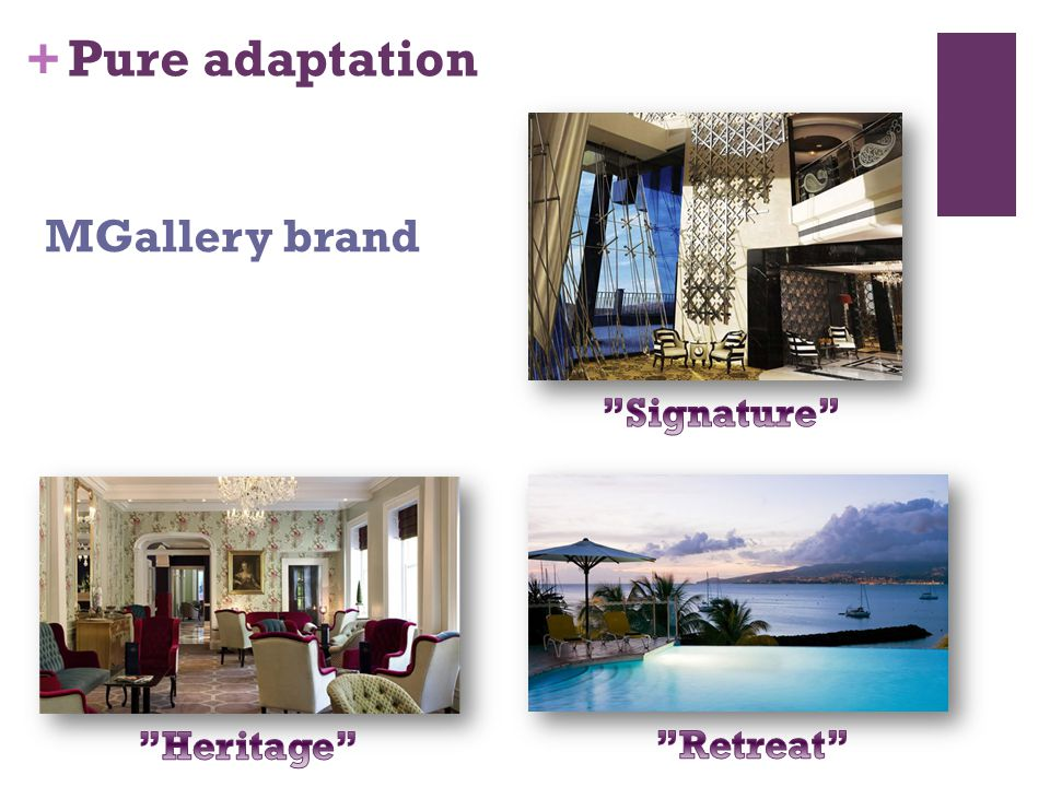 + Pure adaptation MGallery brand