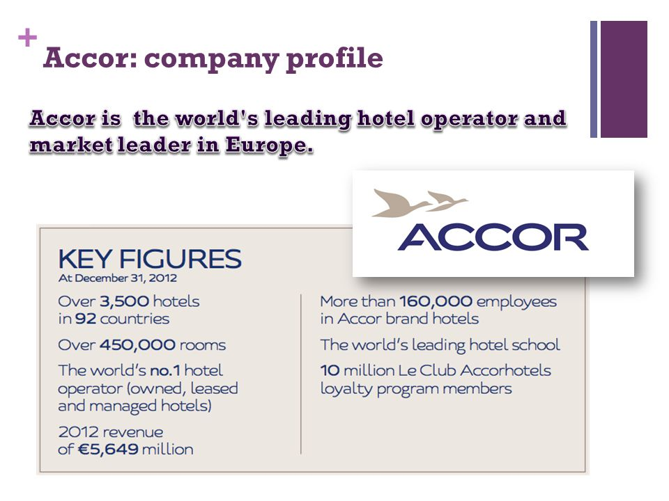 + Accor: company profile