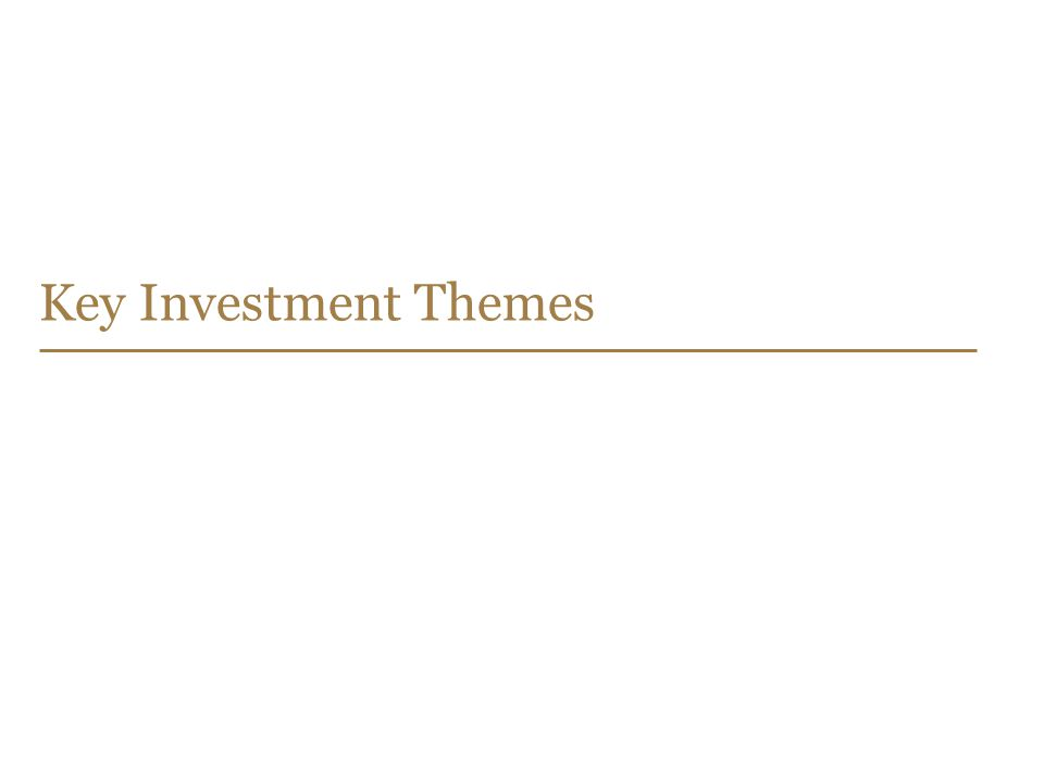 34 Key Investment Themes