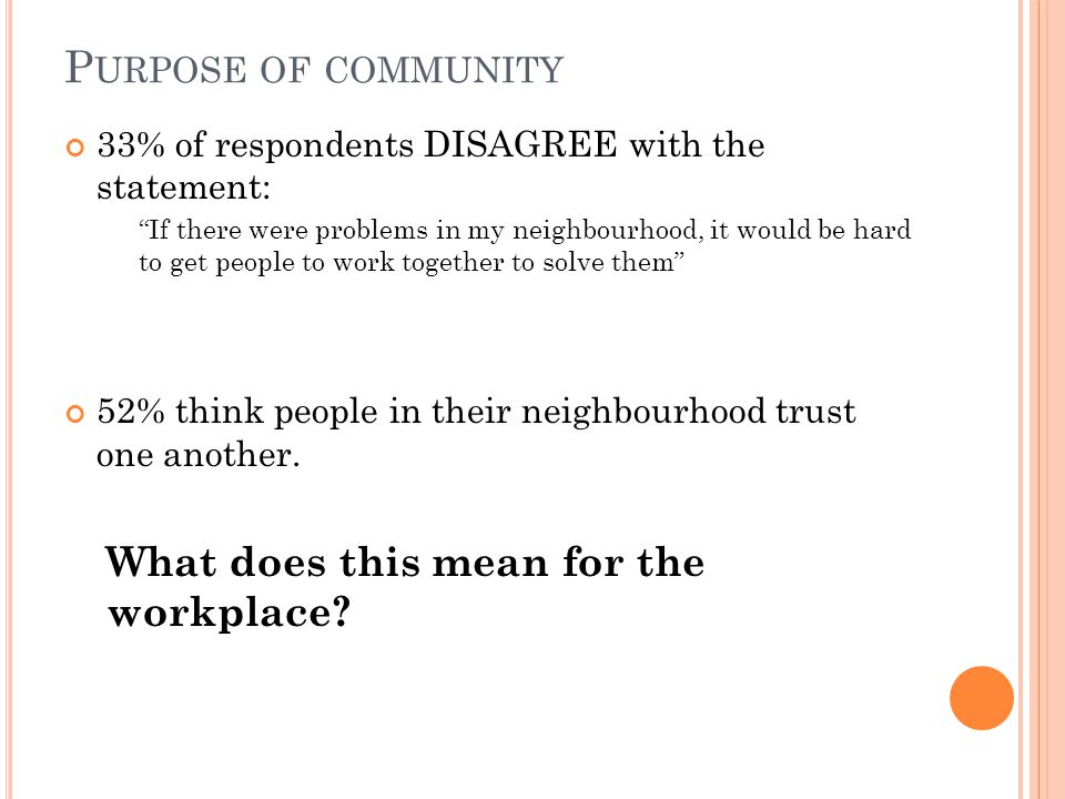 Can employees care about issues in their workplace if their interest in community stops at their front yard (or common area)?