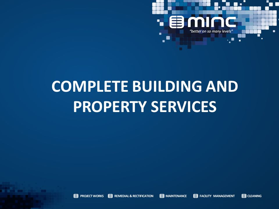 COMPLETE BUILDING AND PROPERTY SERVICES
