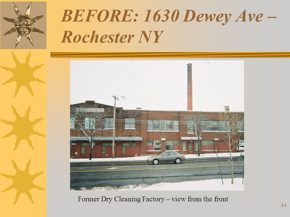 BEFORE: 1630 Dewey Ave – Rochester NY Former Dry Cleaning Factory – view from the front 44