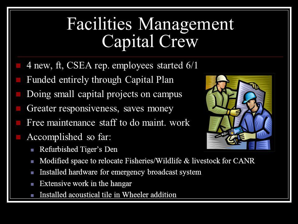 Facilities Management Capital Crew 4 new, ft, CSEA rep.