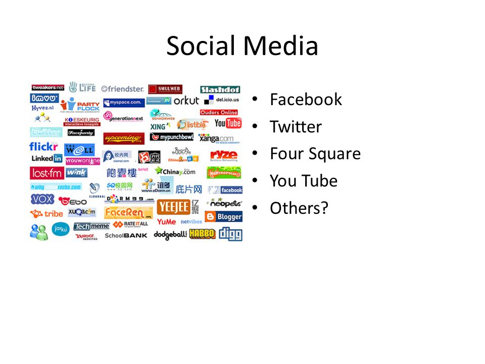 Social Media Facebook Twitter Four Square You Tube Others?