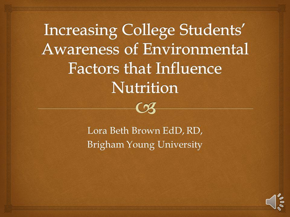 Lora Beth Brown EdD, RD, Brigham Young University