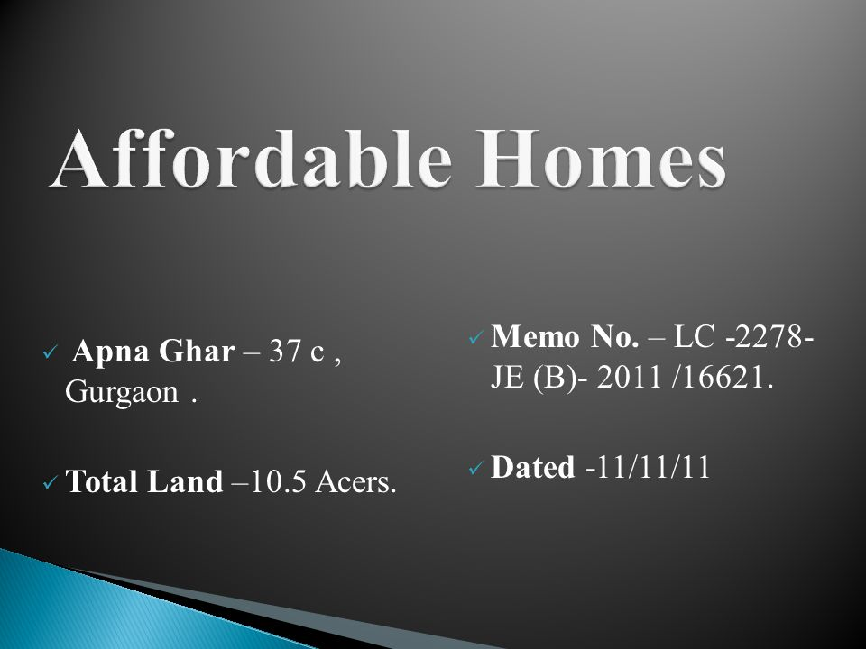 Apna Ghar – 37 c, Gurgaon. Total Land –10.5 Acers.