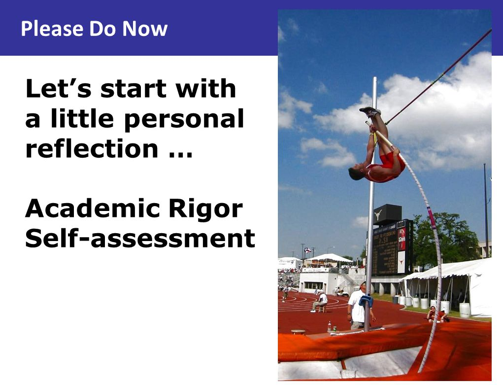 Getting to Know You On your self-assessment, did you answer ….
