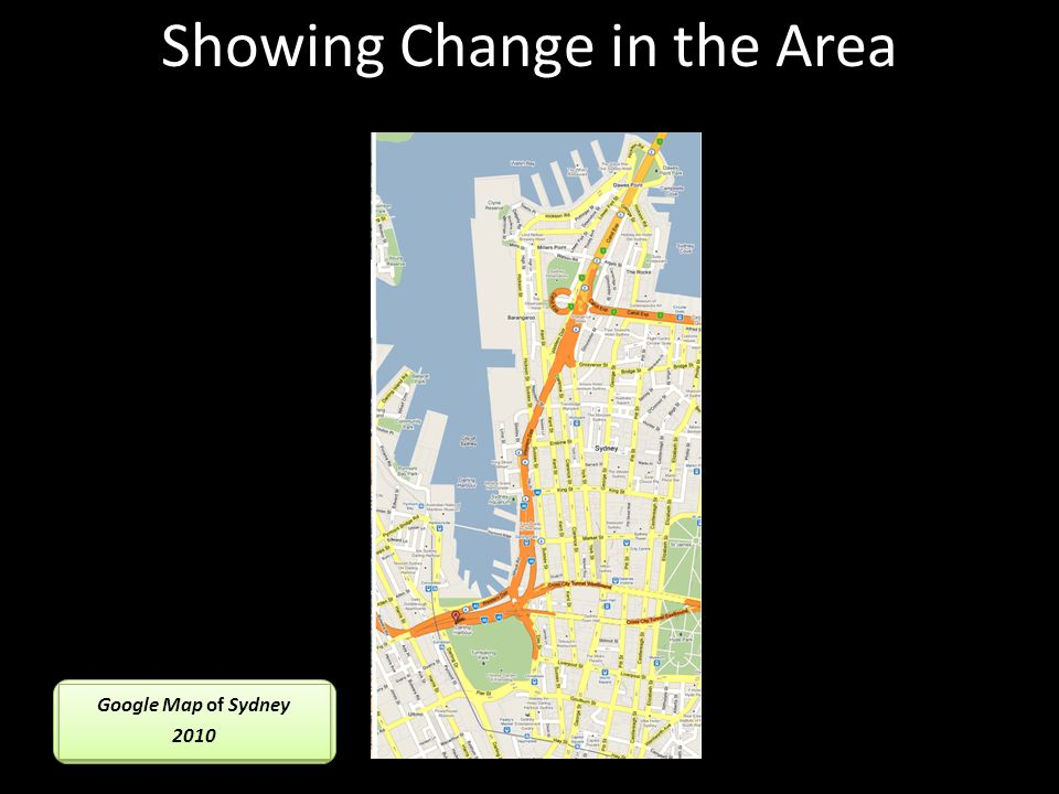 Google Map of Sydney 2010 Google Map of Sydney 2010 Showing Change in the Area