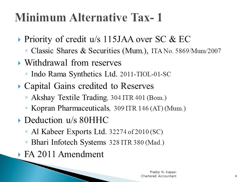 Priority of credit u/s 115JAA over SC & EC Classic Shares & Securities (Mum.), ITA No.