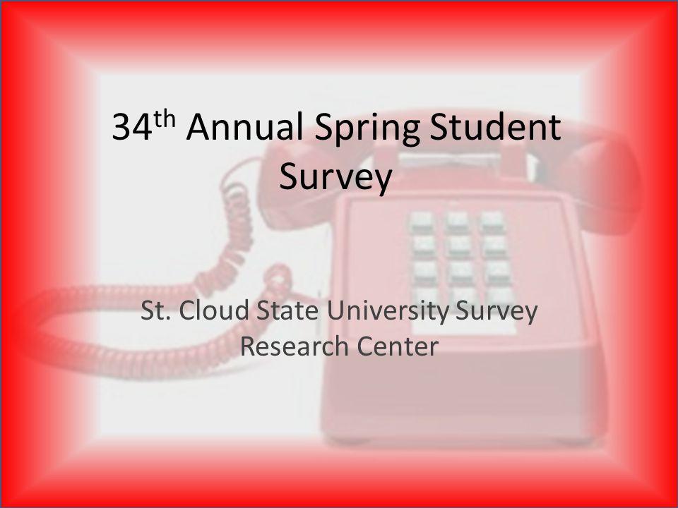 The Pulse of SCSU St. Cloud State University Survey Research Center
