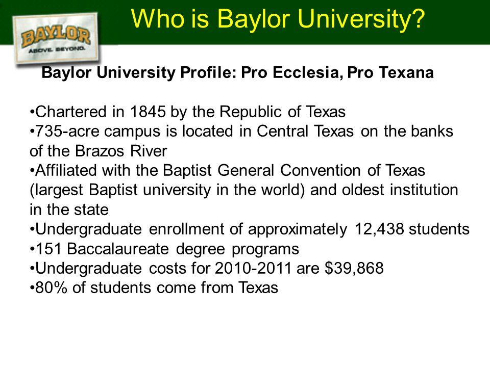 Who is Baylor University.