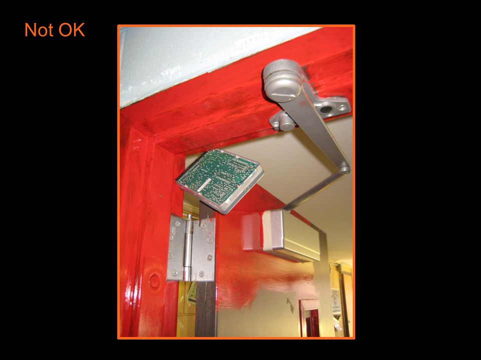 26 | Decoded 2 – Fire Door Assemblies Acceptable Ways to Hold Open a Fire Door Non-detectored electronic hold-open unit released by fire alarm. Electr