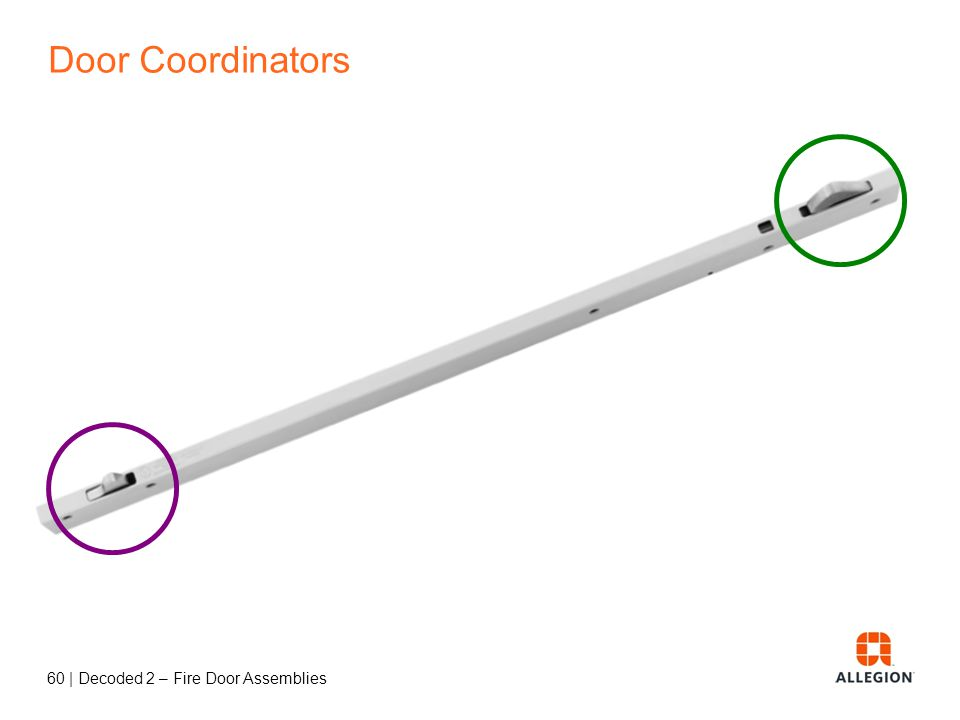 59   Decoded 2 – Fire Door Assemblies Door Coordinator inactive active