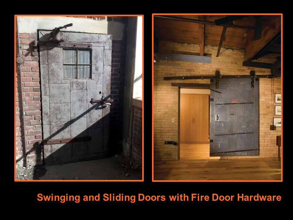 Swinging Doors with Builders Hardware