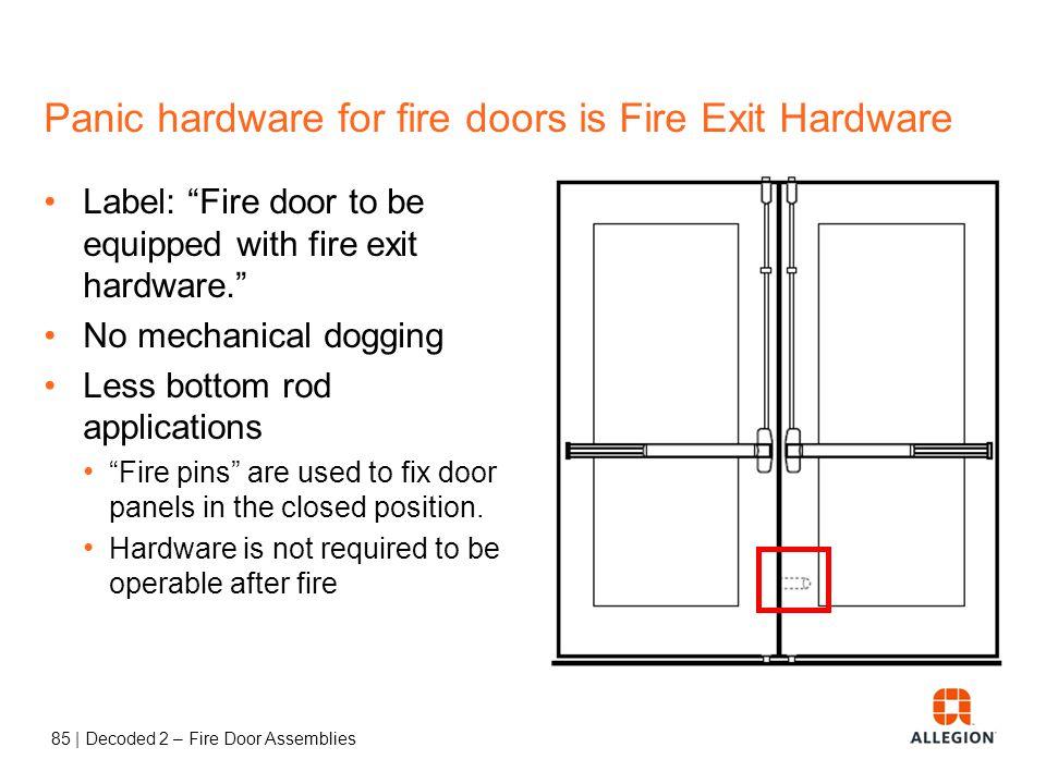 84   Decoded 2 – Fire Door Assemblies