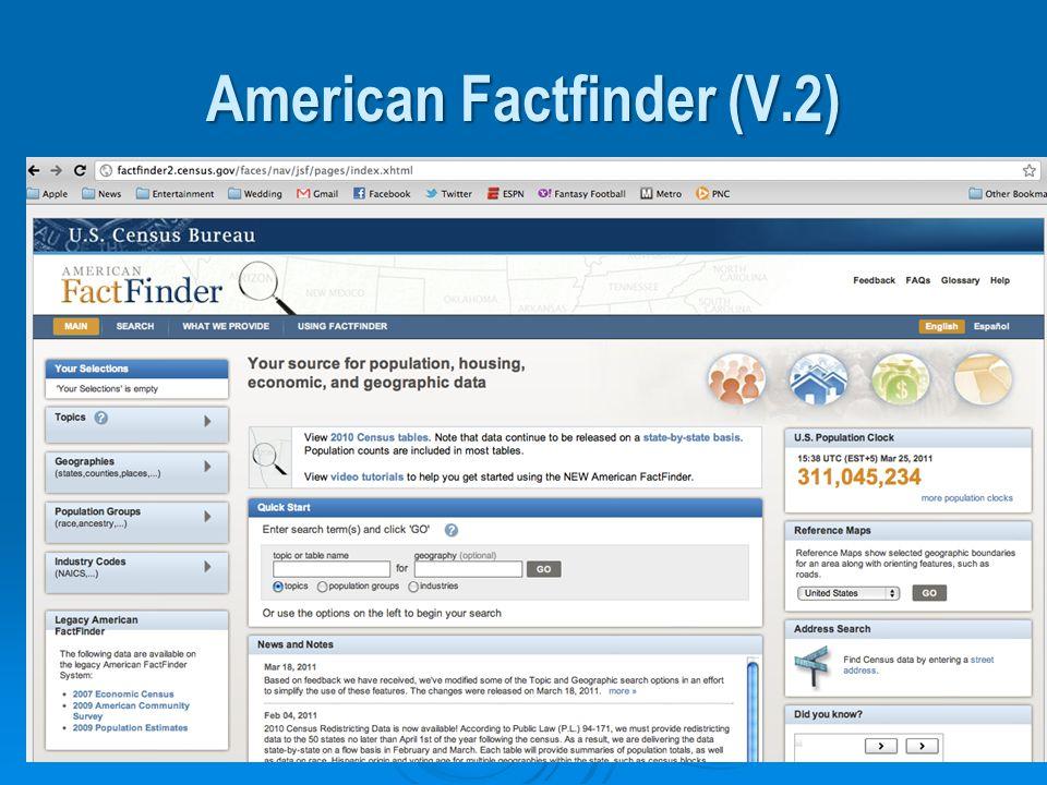 American Factfinder (V.2)