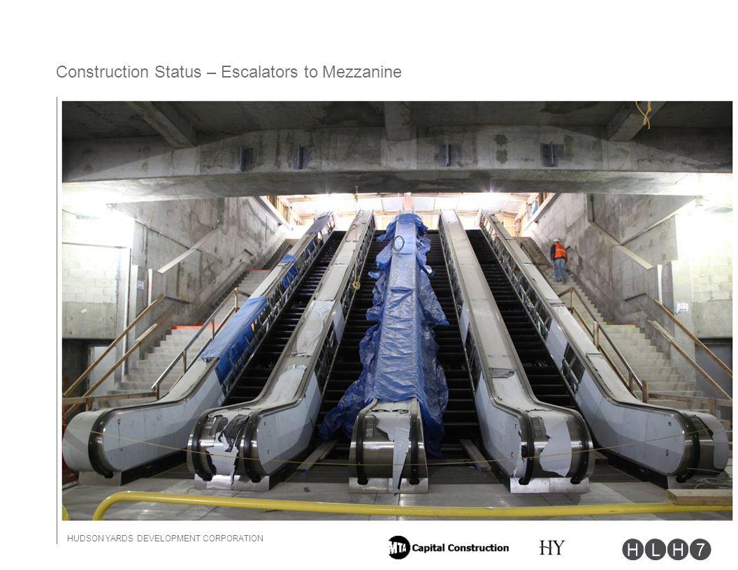 HUDSON YARDS DEVELOPMENT CORPORATION 10 Construction Status – Escalators to Mezzanine