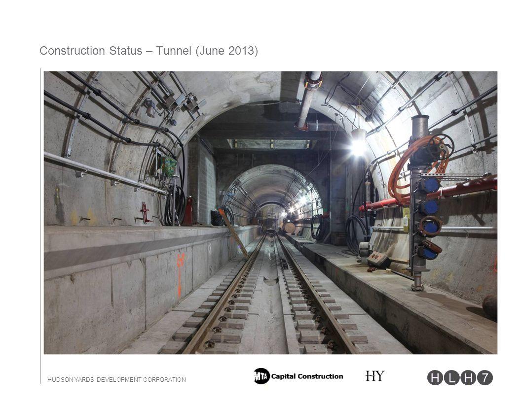 HUDSON YARDS DEVELOPMENT CORPORATION 11 Construction Status – Tunnel (June 2013)