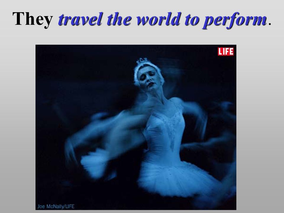 travel the world to perform They travel the world to perform.