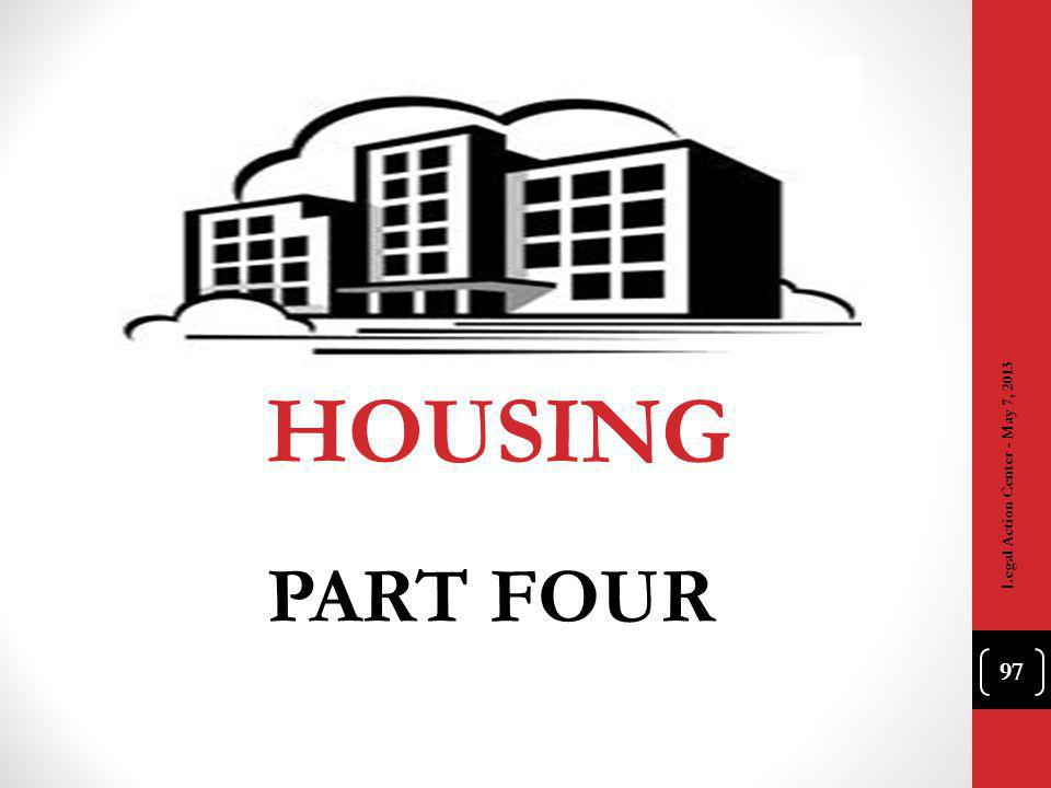 HOUSING PART FOUR 97 Legal Action Center - May 7, 2013