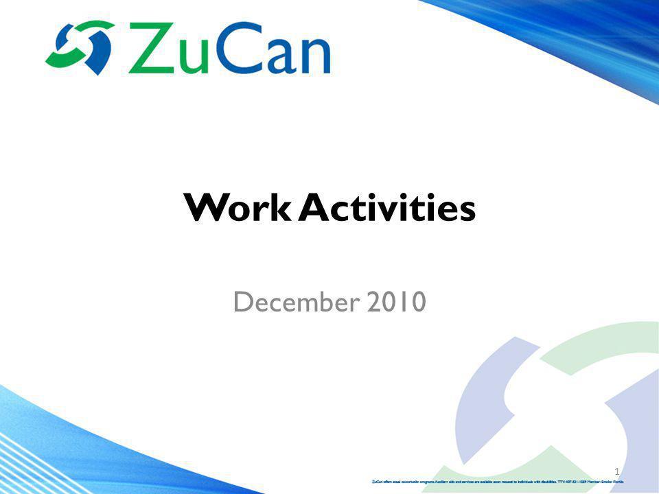 Work Activities December 2010 1