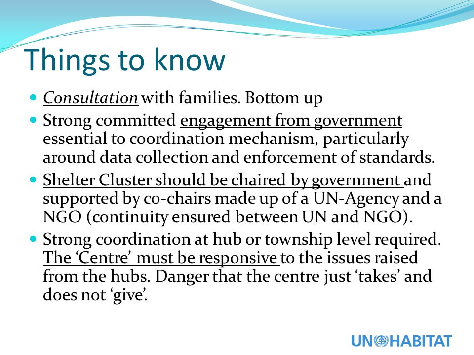 Things to know Consultation with families.