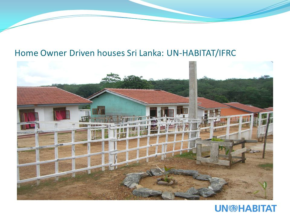 Home Owner Driven houses Sri Lanka: UN-HABITAT/IFRC