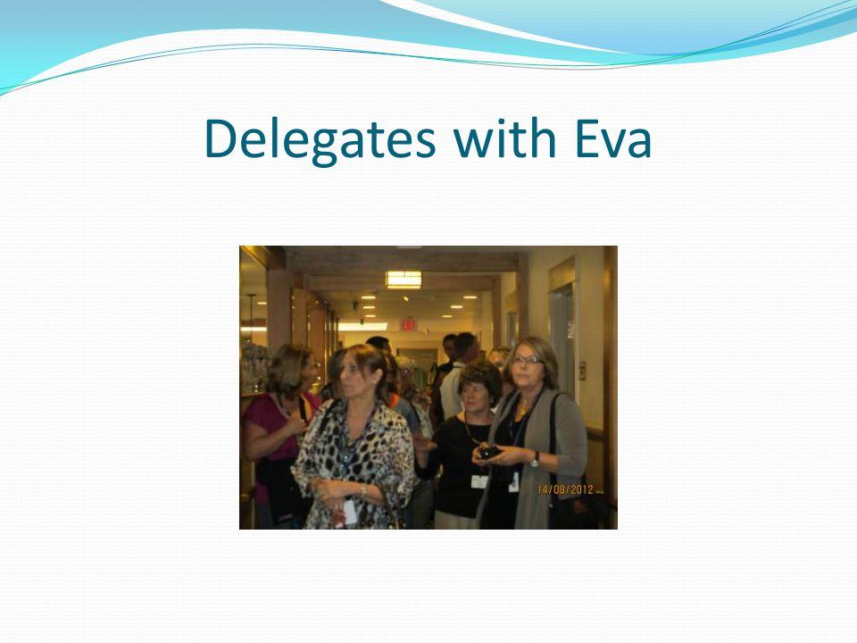 Delegates with Eva