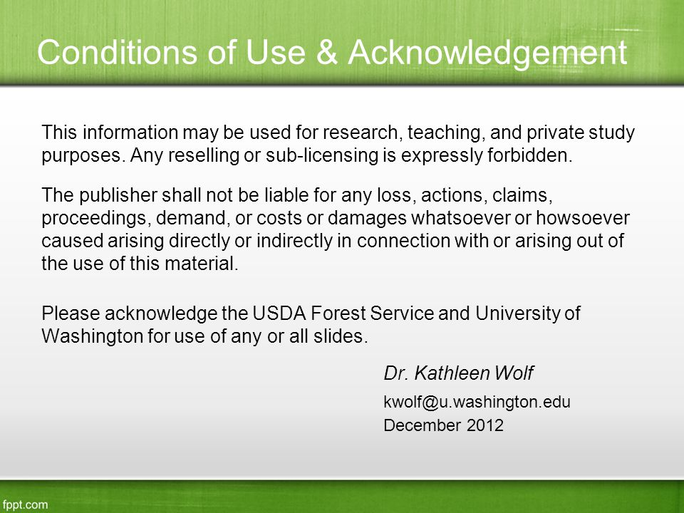 Conditions of Use & Acknowledgement This information may be used for research, teaching, and private study purposes.