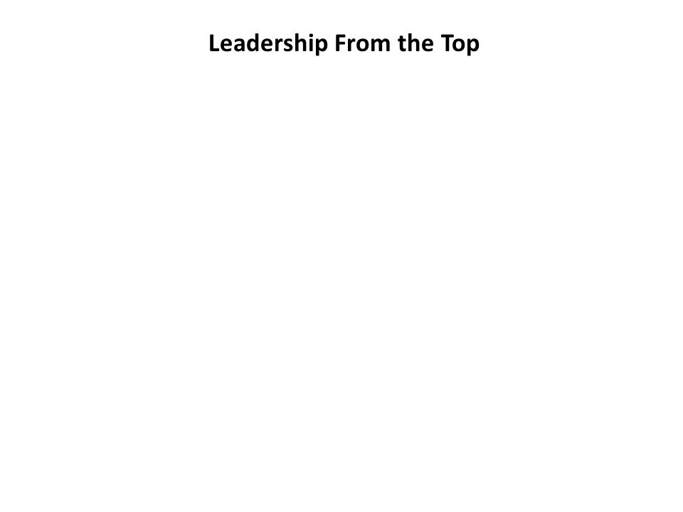 Leadership From the Top