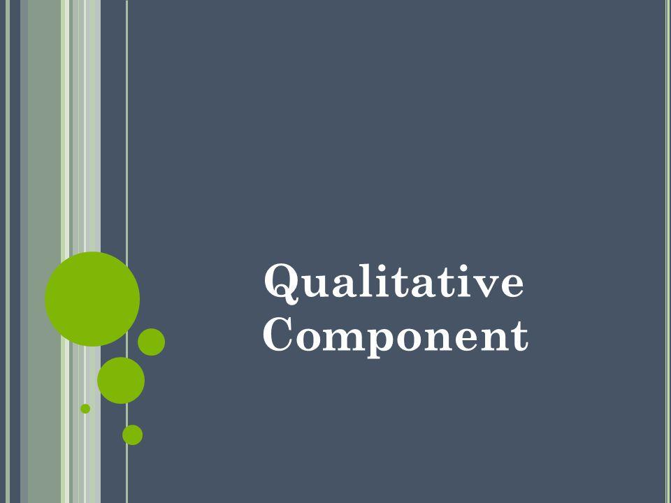Qualitative Component