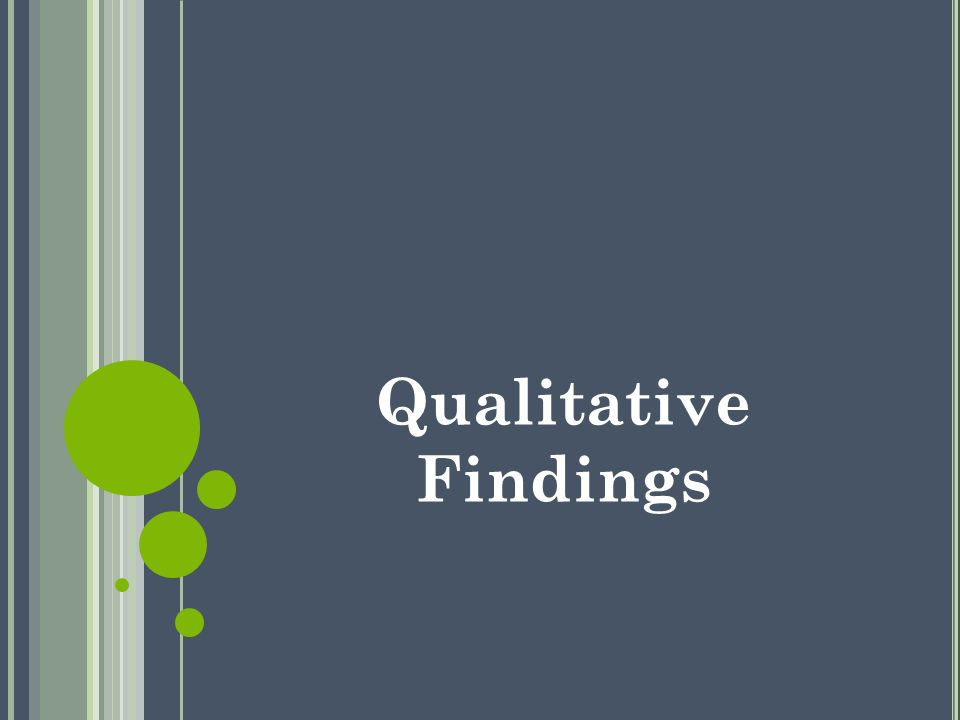 Qualitative Findings