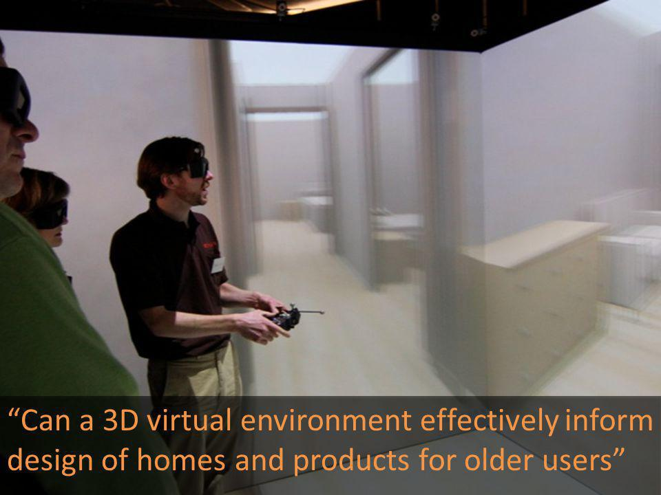 Can a 3D virtual environment effectively inform design of homes and products for older users