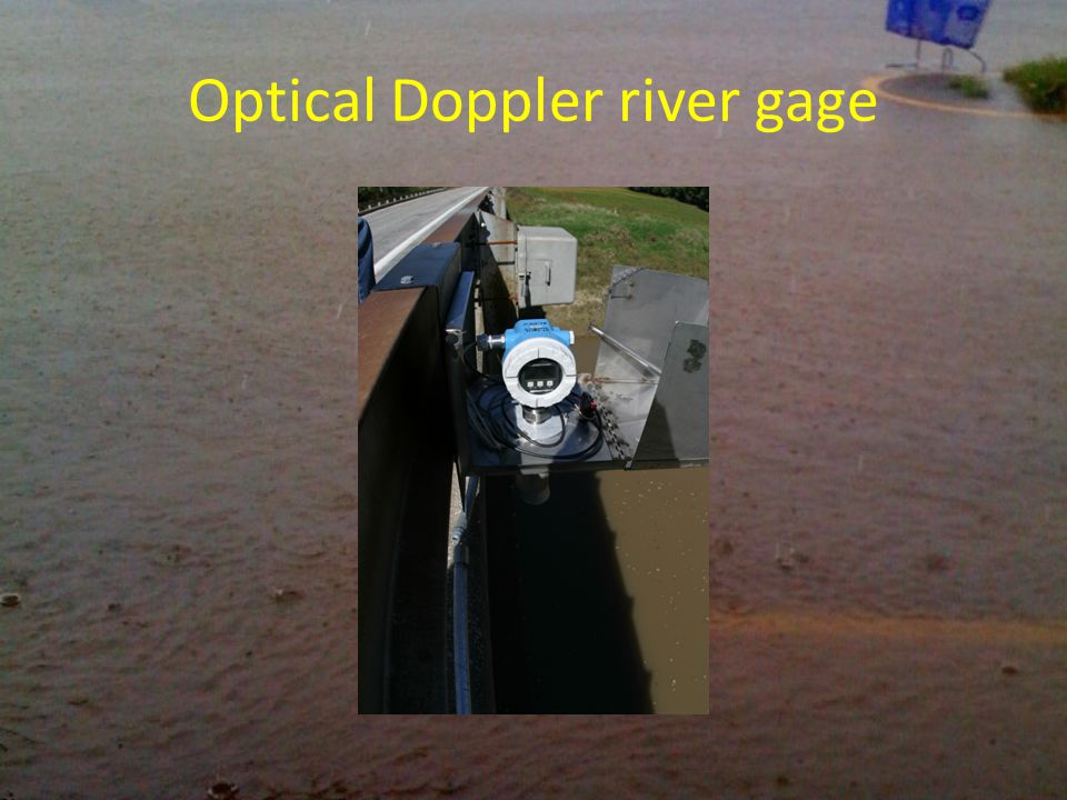 Optical Doppler river gage