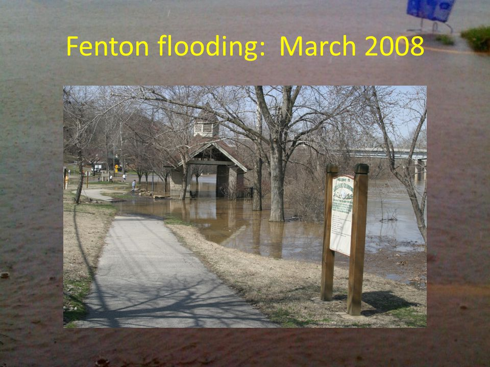 Fenton flooding: March 2008