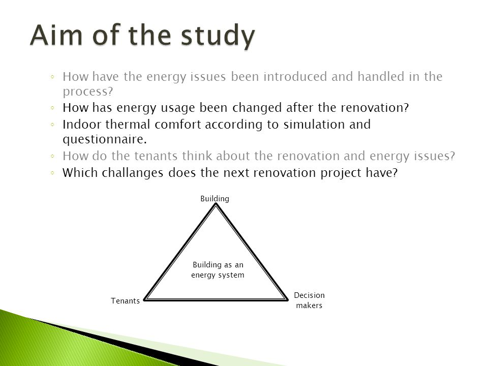 How have the energy issues been introduced and handled in the process? How has energy usage been changed after the renovation? Indoor thermal comfort