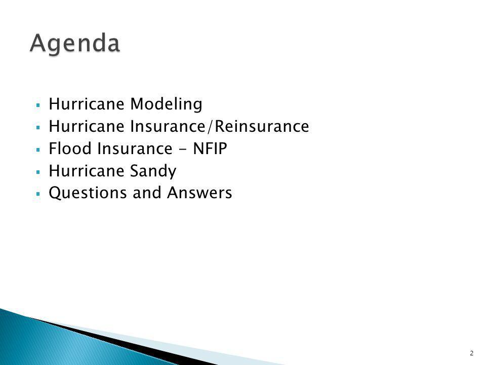 Hurricane Modeling Hurricane Insurance/Reinsurance Flood Insurance - NFIP Hurricane Sandy Questions and Answers 2
