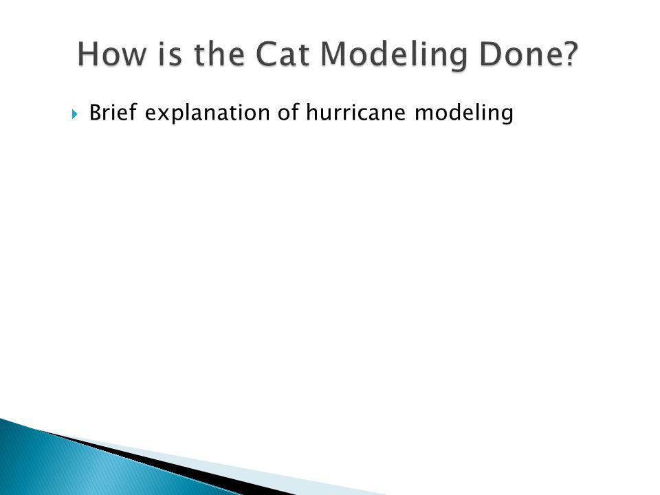 Brief explanation of hurricane modeling