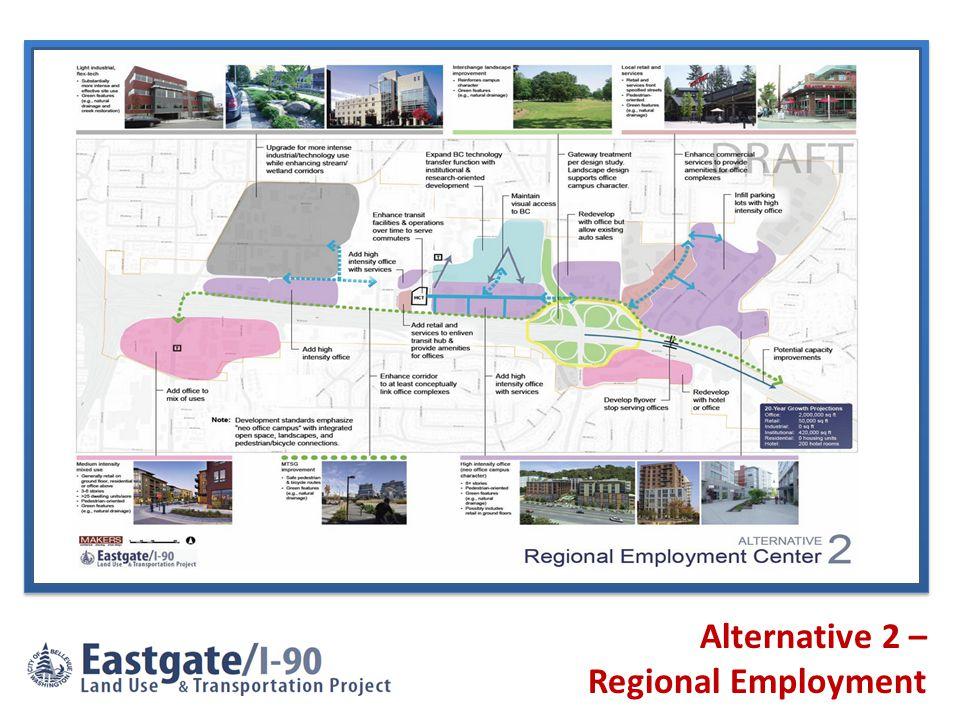 Alternative 2 – Regional Employment